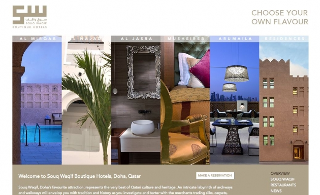 The House of Words   Souq Waqif Boutique Hotels: Web Copy